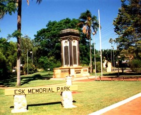 Esk War Memorial and Esk Memorial Park - Geraldton Accommodation