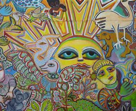 The Painting of Life by Mirka Mora - Geraldton Accommodation