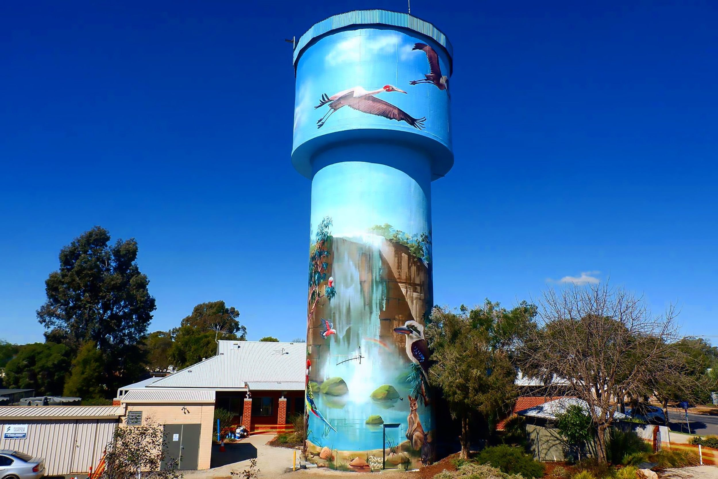 Lockhart Water Tower Mural - Geraldton Accommodation