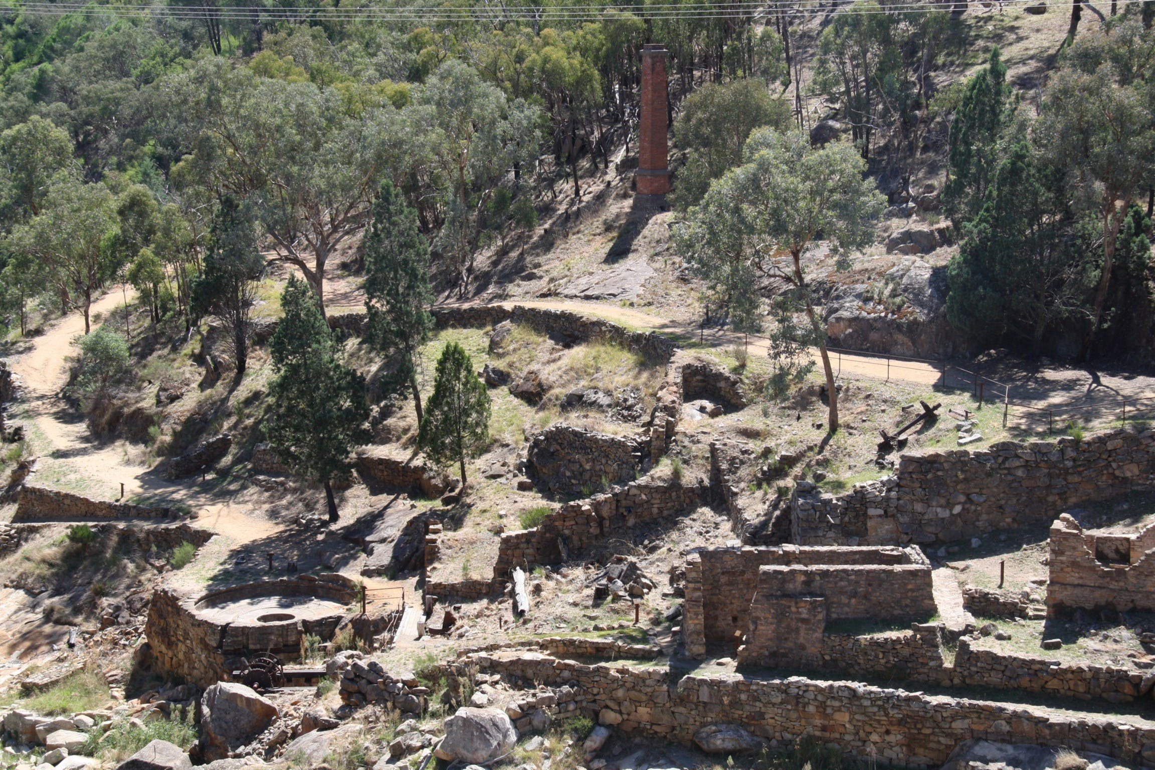 Adelong Falls Gold Mill Ruins - Geraldton Accommodation