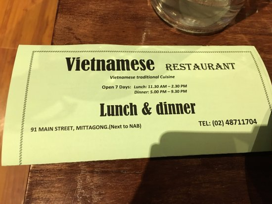 Vietnamese Restaurant - Geraldton Accommodation