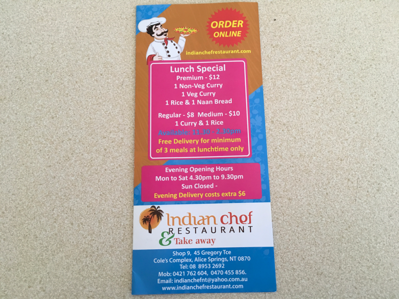 Indian chef restaurant  Take away - Geraldton Accommodation